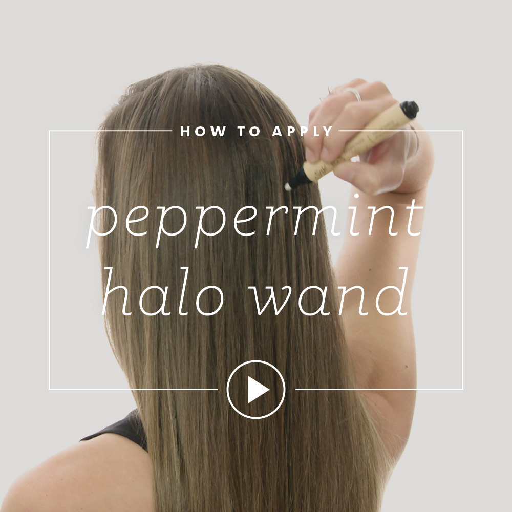 How to Apply Peppermint Halo Wand