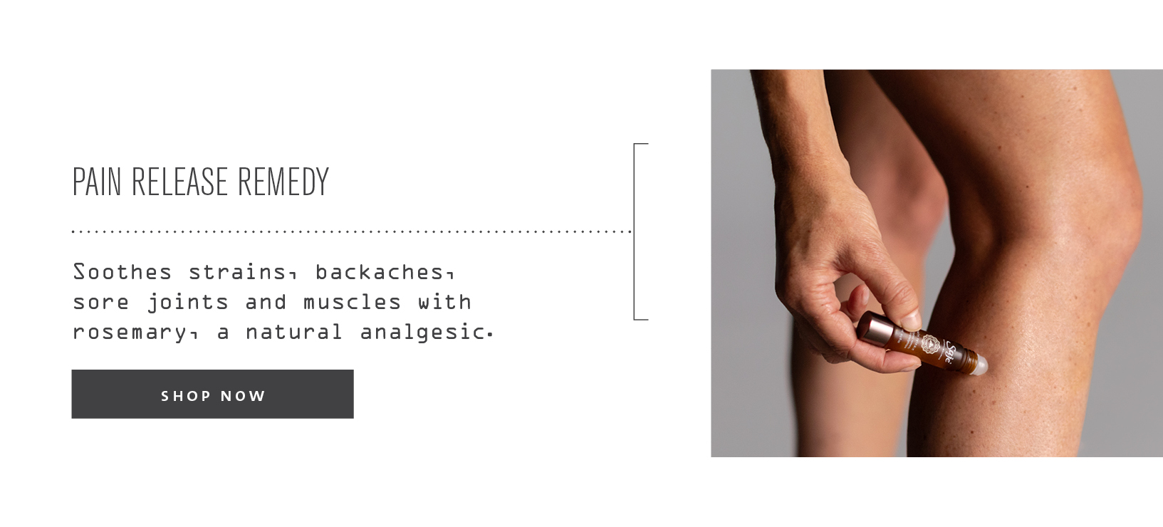 pain release remedy - soothes strains, backaches, sore joints and muscles with rosemary, a natural analgesic