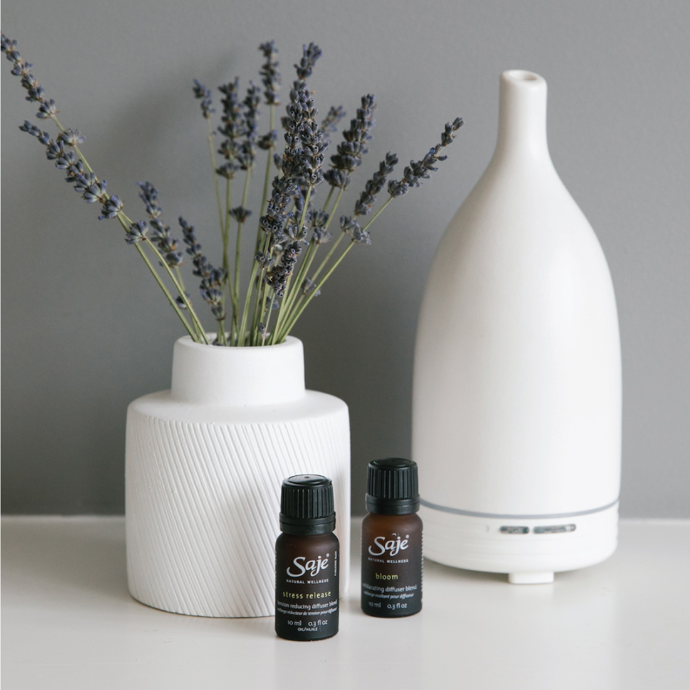 Breathe in essential oils to feel better from morning to night.
