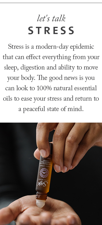 Relieve tension, relax and unwind with our essential oils for stress. Shop roll-ons, blends, bath salts and swishes.