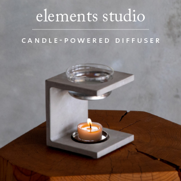 Saje Elements Studio Edition Cement Candle Diffuser