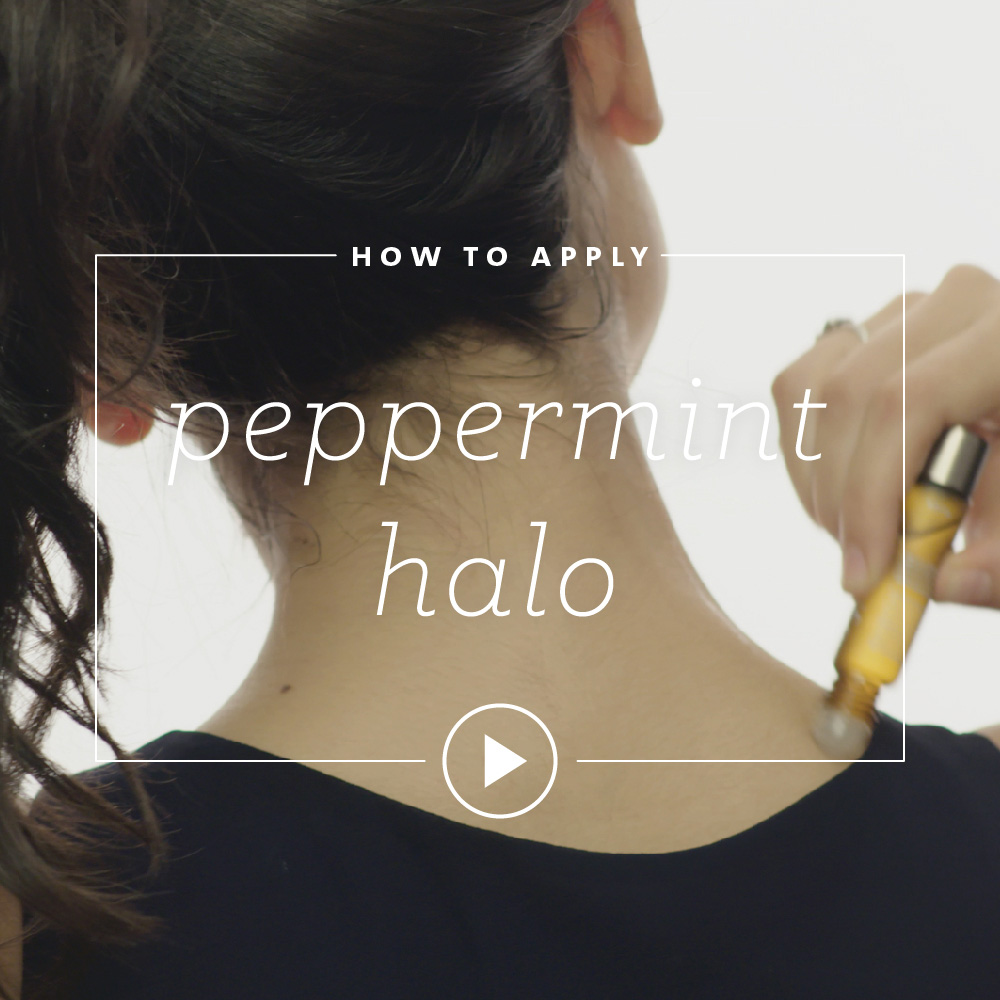 How to Apply Peppermint Halo