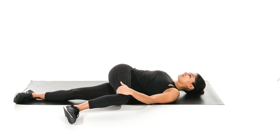 Hip twist pose to release tension in hip flexors