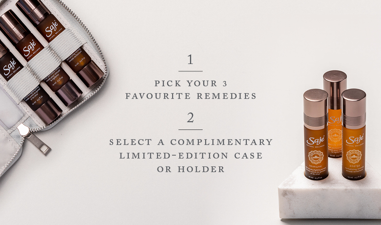 Pick your favourite essential oil blends and get a free limited-edition case or holder