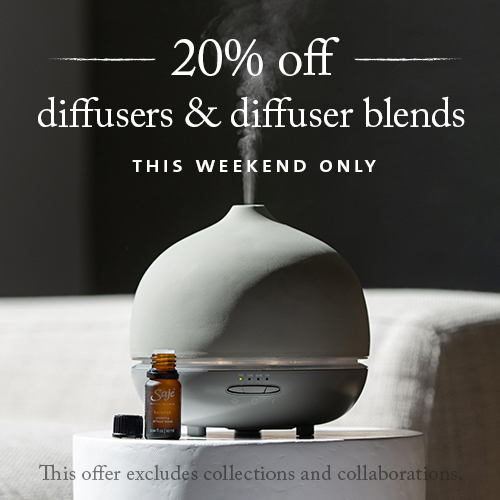 Aroma Om Stone Deluxe Diffuser and Balance Diffuser Blend
