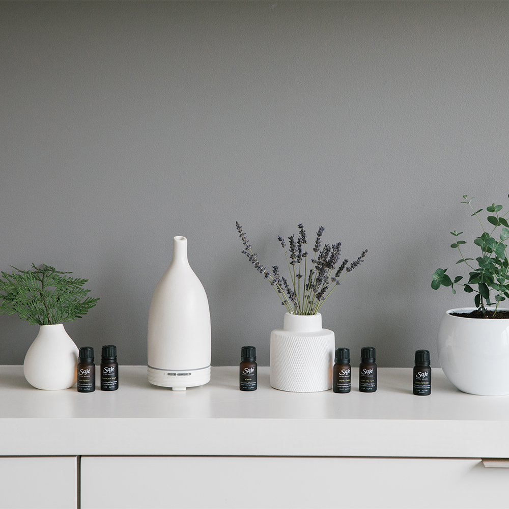 Saje Diffuser and Essential Oils