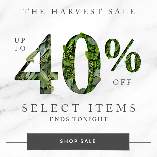 The Harvest Sale - Up To 40% Off Select Items