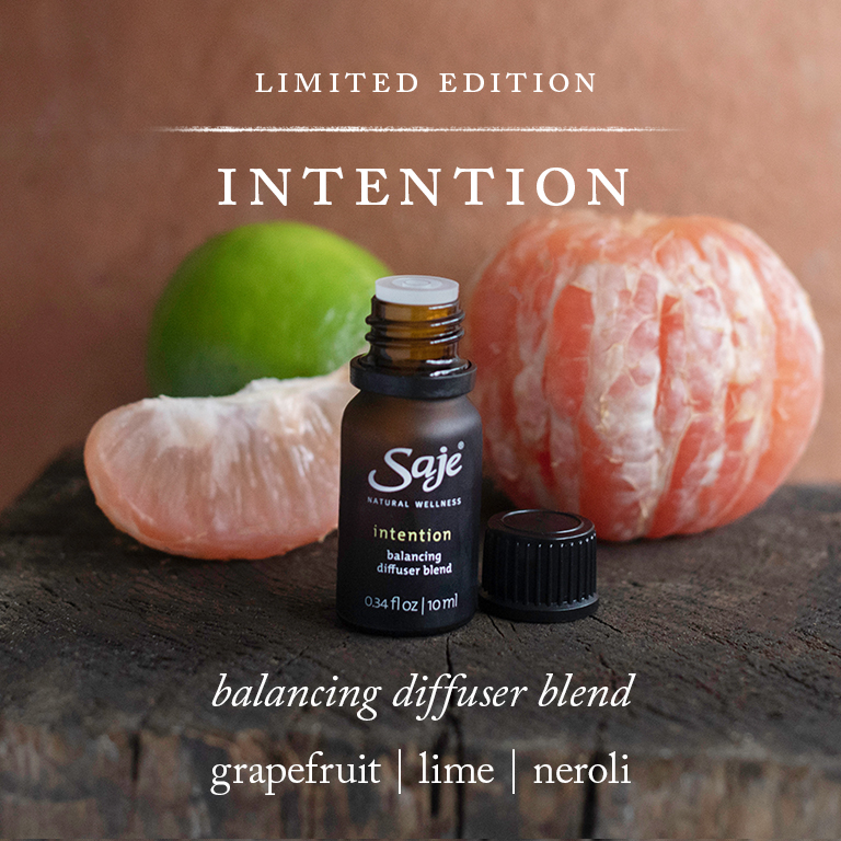 Intention balancing diffuser blend with grapefruit, lime, neroli