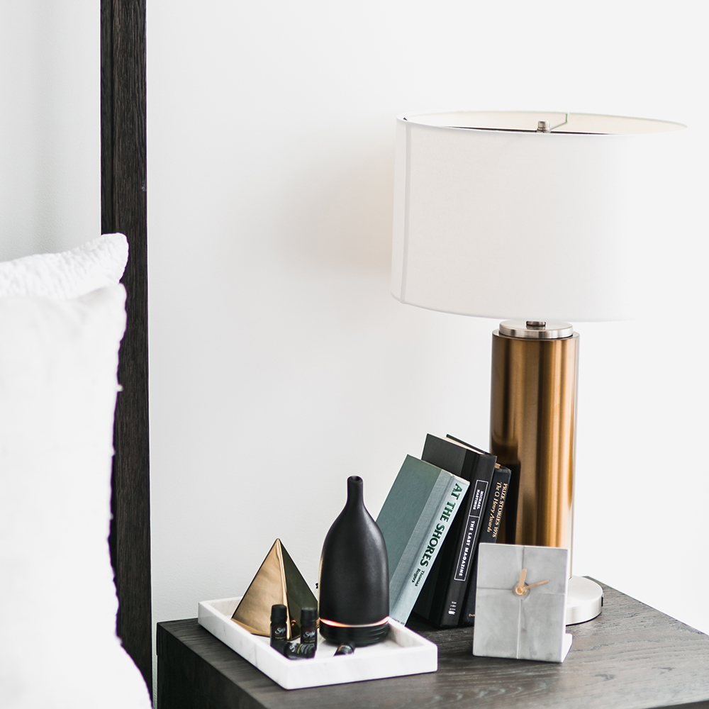 Start your diffuser at the same time each night.