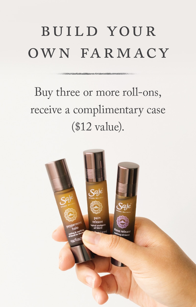 Build your own My Farmacy - Buy three or more roll-ons, receive a complimentary case ($12 value)