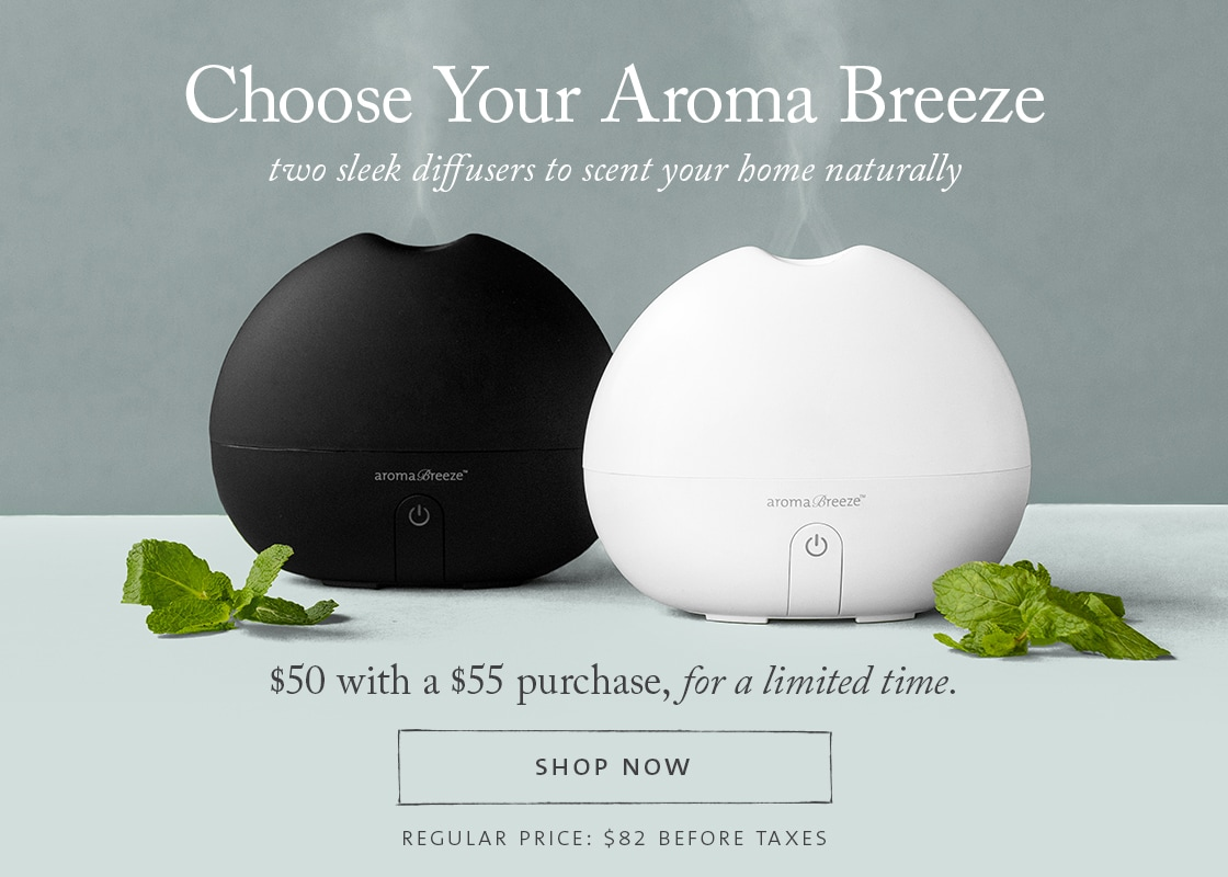 Choice of Aroma Breeze Diffuser - $50 with $55 purchase