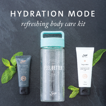 Hydration Mode Water Bottle with Tingle Mint Lotion and Body Wash