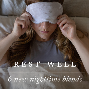 Face mask pulled over eyes to help rest well