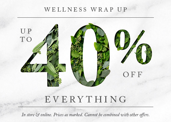 Wellness Wrap Up - Up to 40% off everything