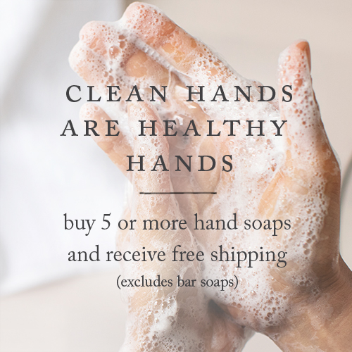 hands covered in clean hands foaming hand soap