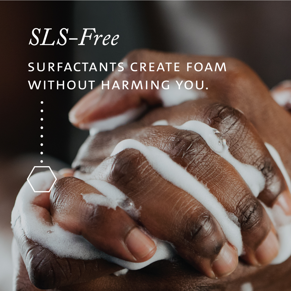 SLS-free surfactants create foam without harming you.