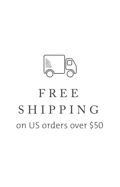 Free Standard Shipping within the U.S. on orders over $50