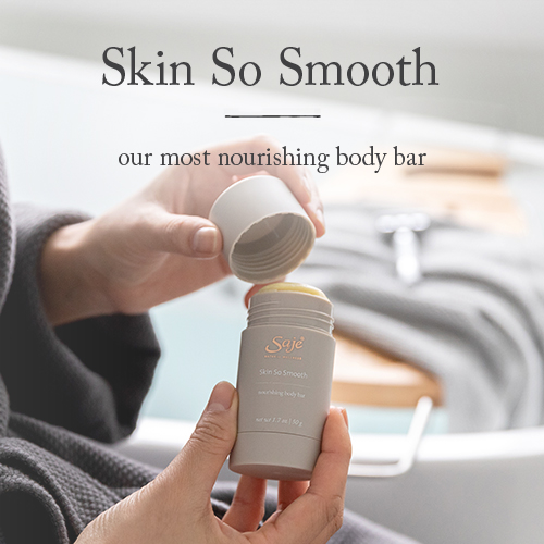 Skin So Smooth most nourishing body bar being opened