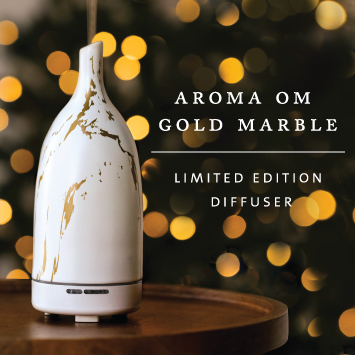 Aroma Om Gold Marble Diffuser