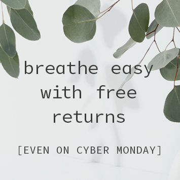 Breathe easy with free returns