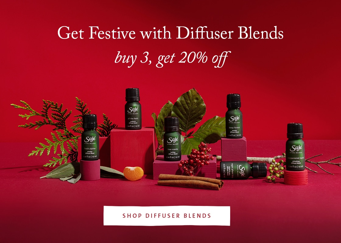 Get festive with diffuser blends - buy 3, get 20% off