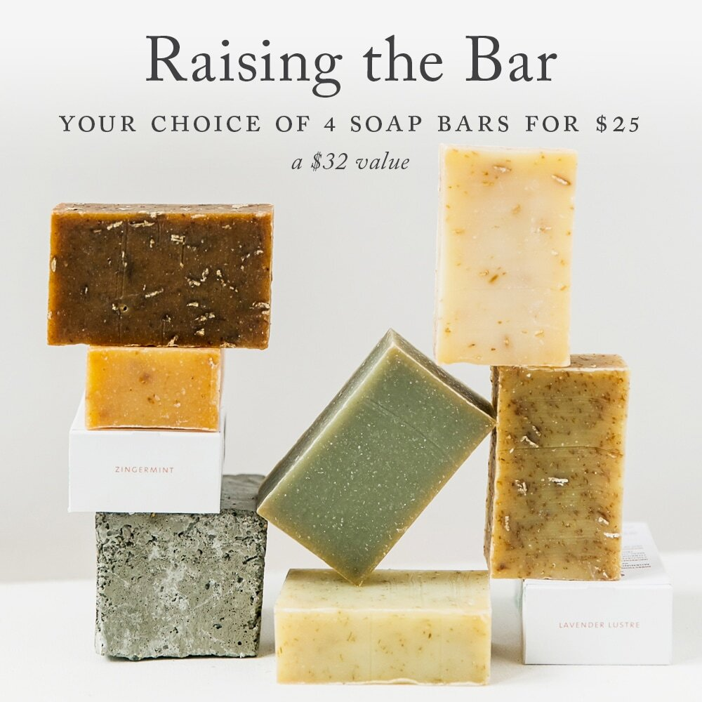 Buy any 4 soap bars for $25