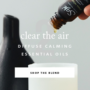 Step two - clear the air by diffusing calming essential oils