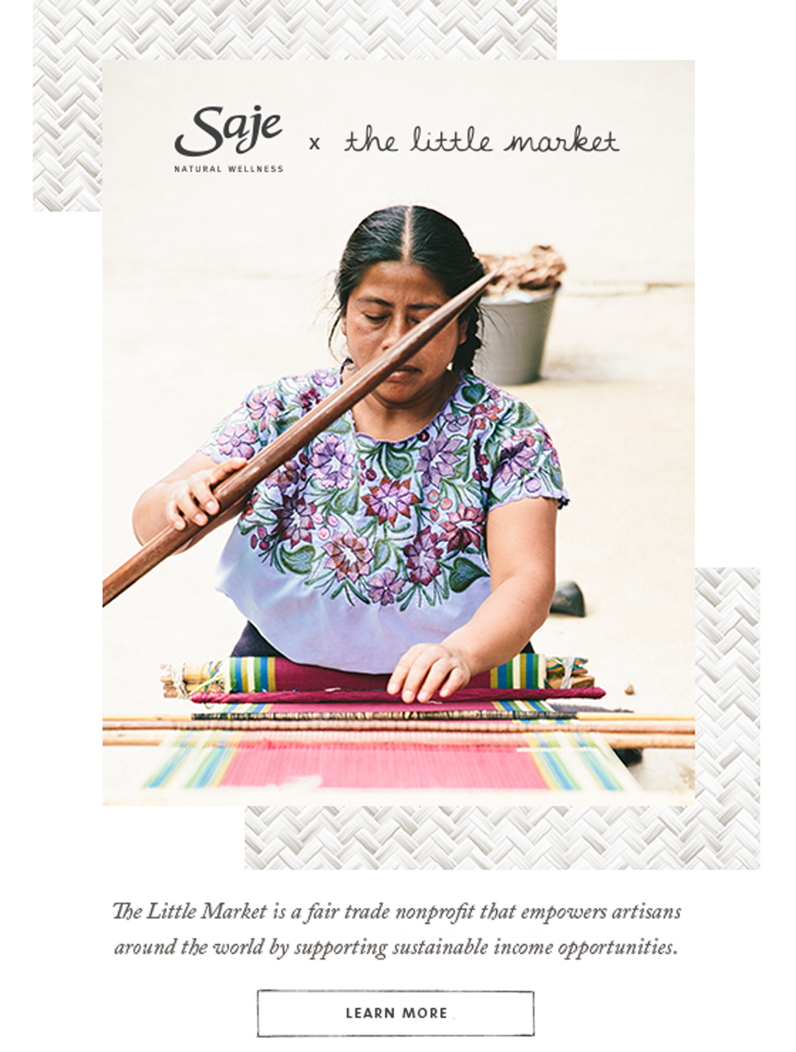 The Little Market is a fair trade nonprofit that empowers artisans around the world by supporting sustainable income opportunities