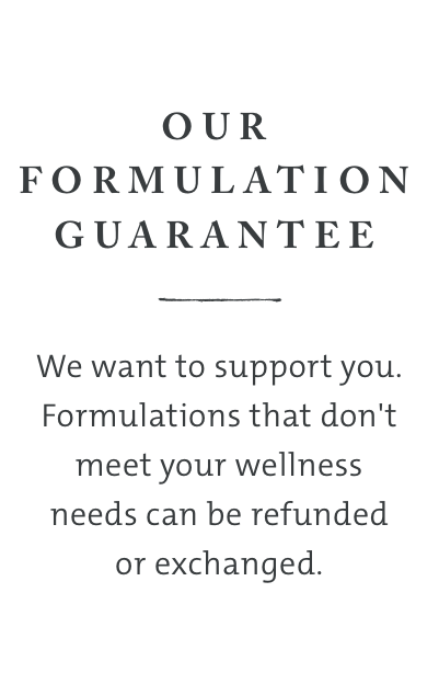 Saje Guarantee - formulations that don't meet your wellness needs can be refunded or exchanged
