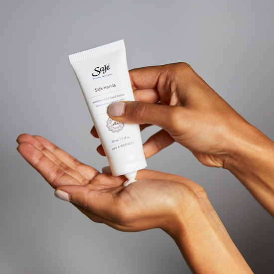 Saje Safe Hands natural topical antimicrobial lotion