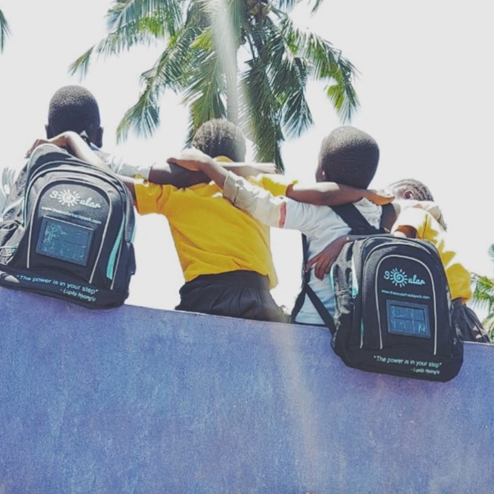 Soular backpacks providing solar-powered light to students in East Africa